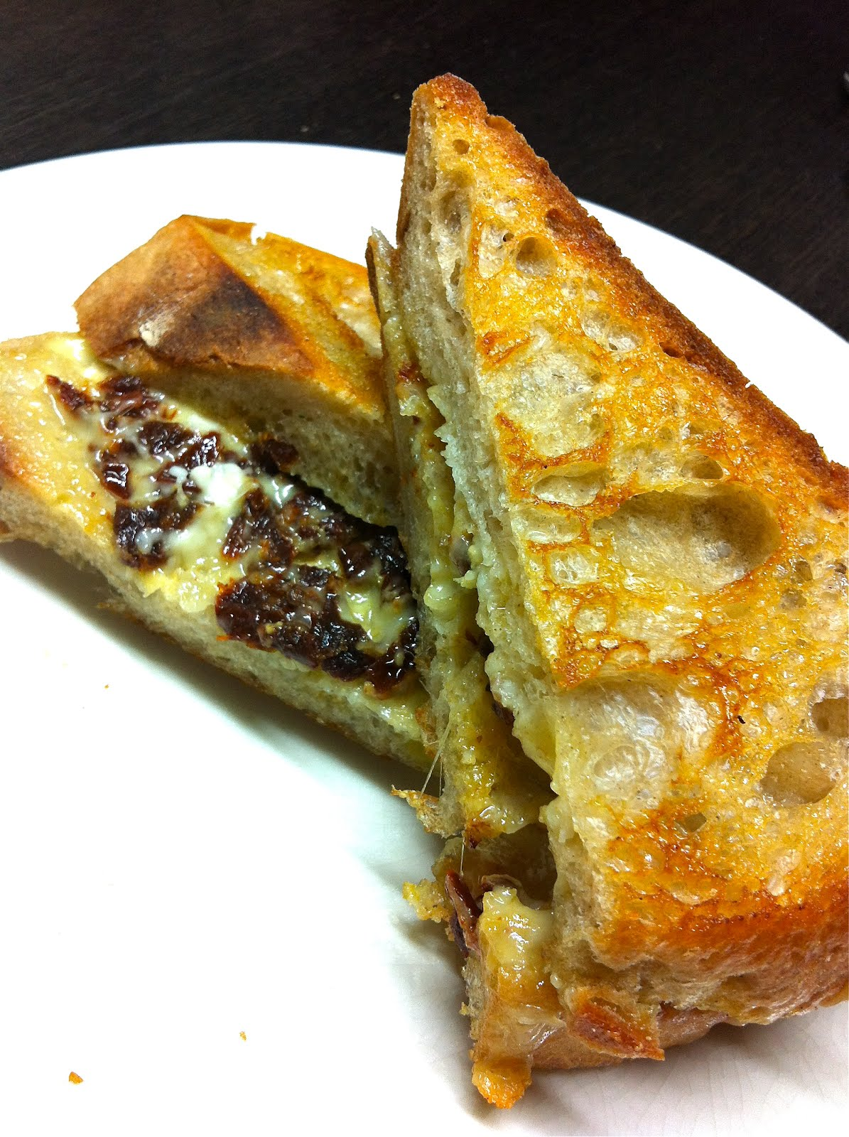 ... 041 Grilled Cheese Sandwich: Edam with Sun-Dried Tomatoes on Sourdough