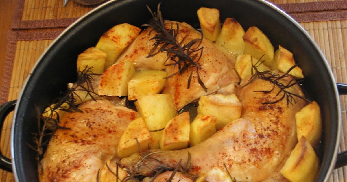 Cocinar sin sal pollo con patatas al horno sin sal - Cocinar sin sal ...