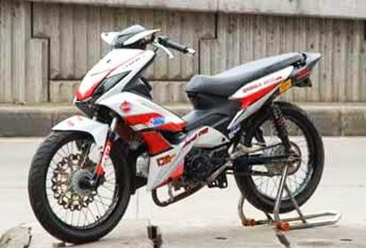 Modifikasi Motor Honda Blade Velg Jari-Jari | Koleksi Gambar Keren