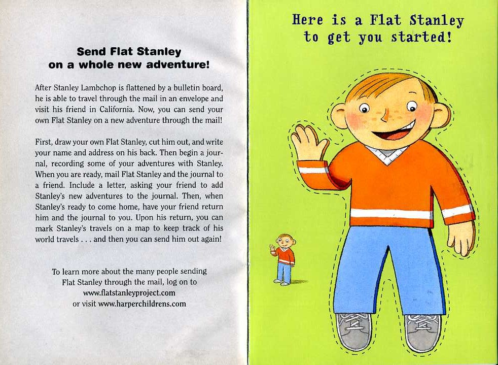 Piccadilly Post In Writing Flat Stanley