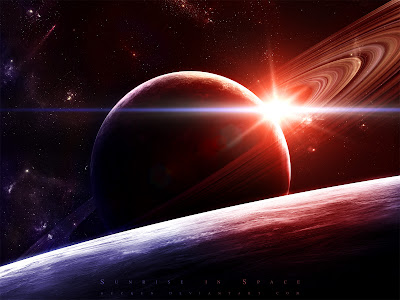 3D Space Scene Wallpapers