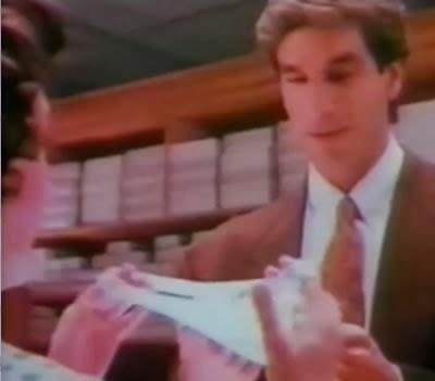 Propaganda da Valisère com Victor Fasano em 1989.