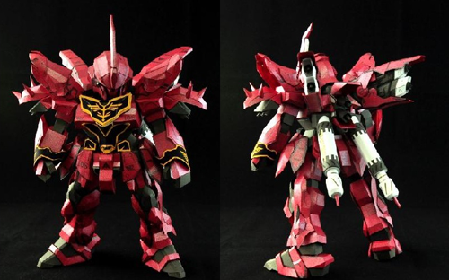 SD Gundam MSN 06S Sinanju Papercraft