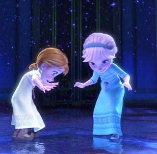 Gambar Foto Anna dan Elsa Frozen Kecil