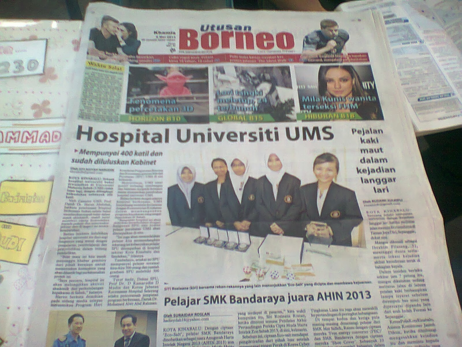 Utusan Borneo edisi 9 Mei 2013
