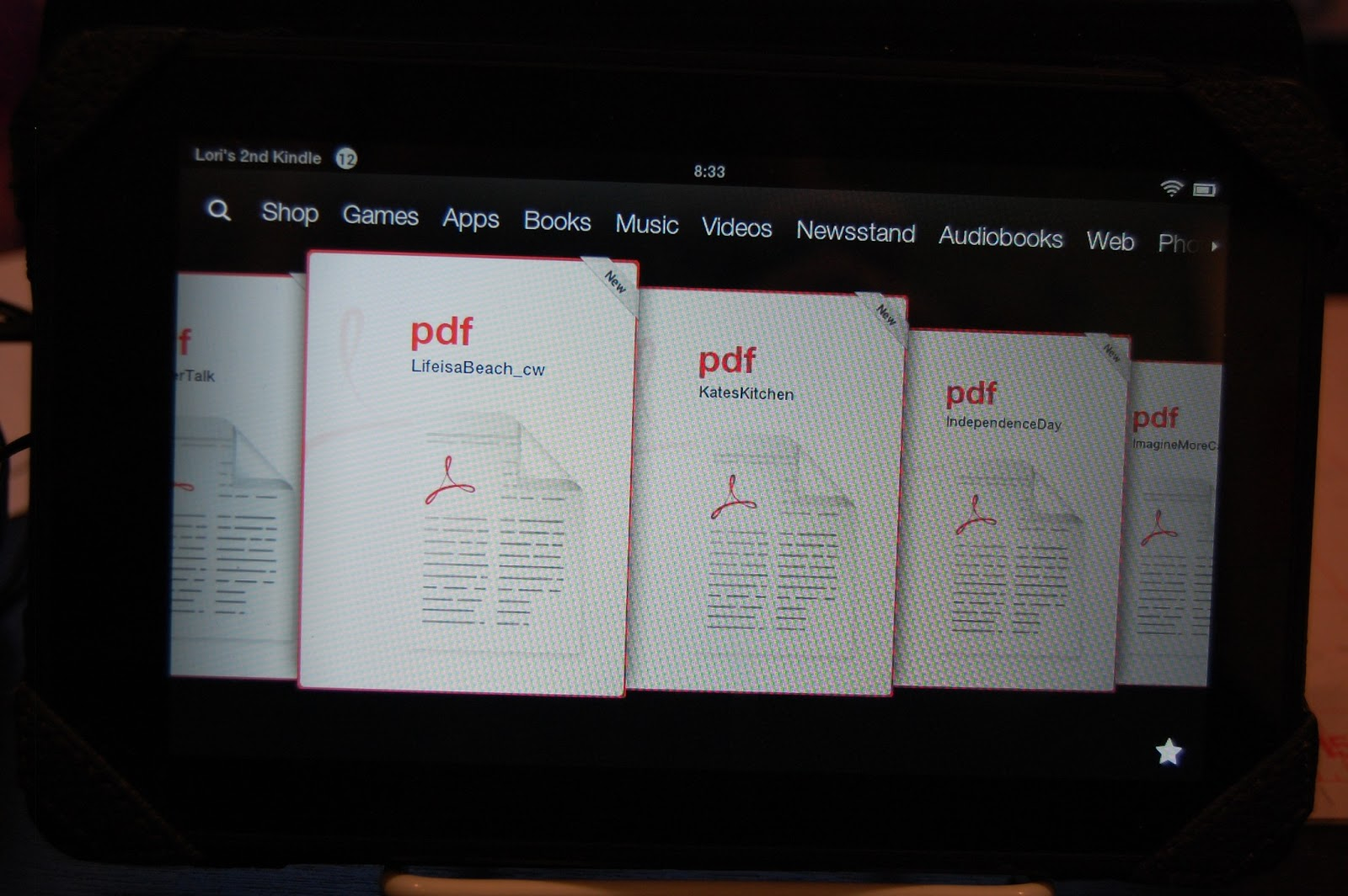 can you add pdf to kindle