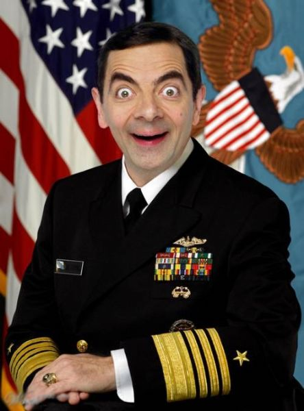 mr. bean army officer