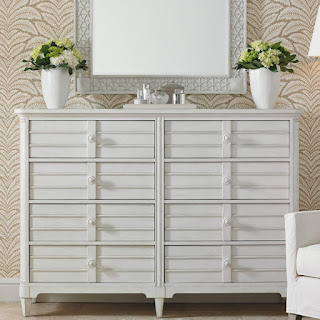 baers Cypress Grove Cottage Style Dresser with Mirror