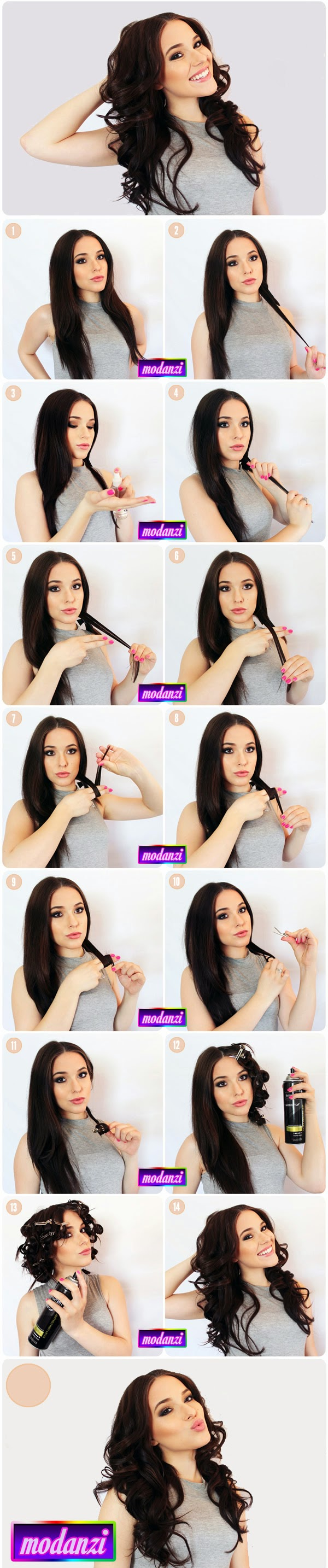 Isıtıcı Kullanmadan Dalgalı Saç Yapma ( Resimli Anlatım )