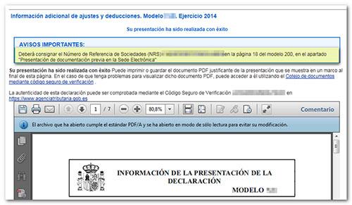 impost de societats model 200 ministeri d'Hisenda entitats sense afany de lucre fiscalitat