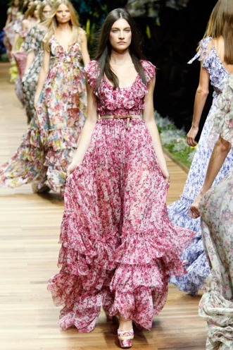 uzun cicek desenli elbise modelleri 2013 Çiçekli elbise modelleri