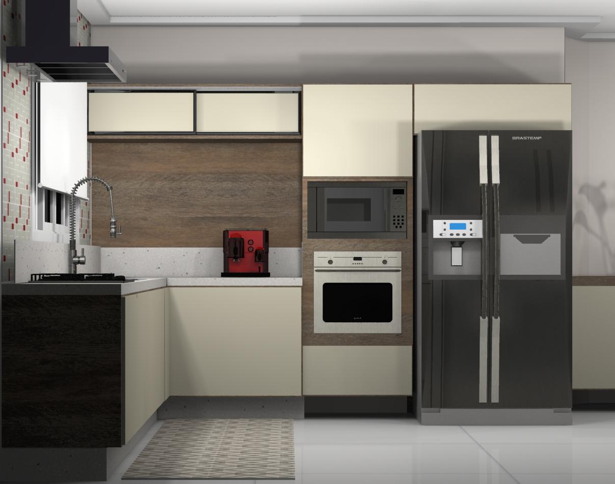Neste Projeto a parede que separava cozinha da sala de almoço foi  #1B6FB0 1207 949
