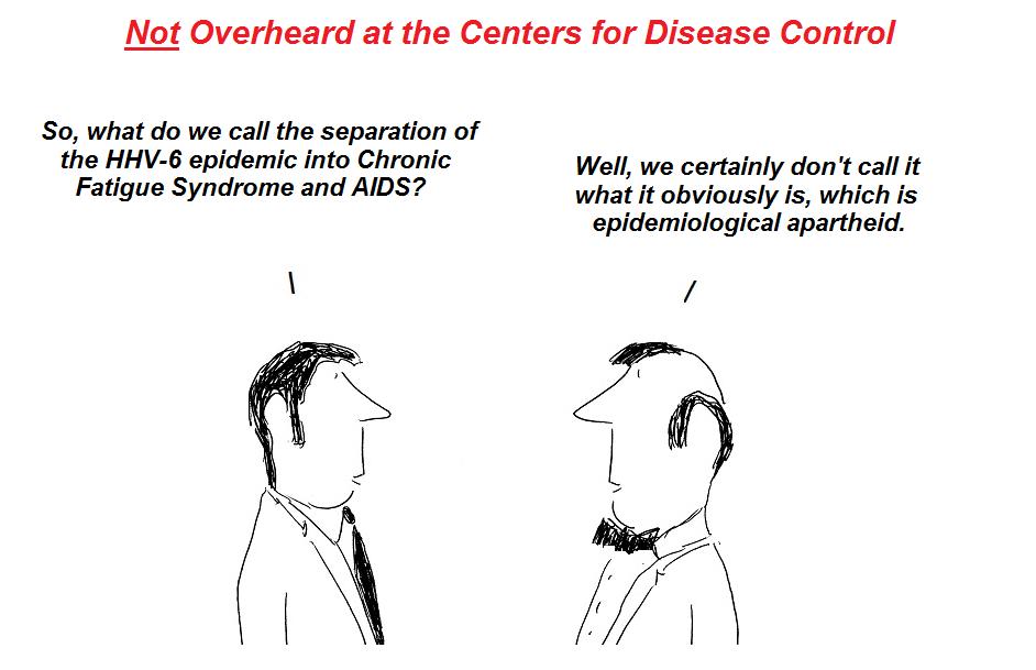 cdc, epidemiological apartheid, hhv-6, pandemic, nih, cover-up, cartoon, hhv-6 cartoon
