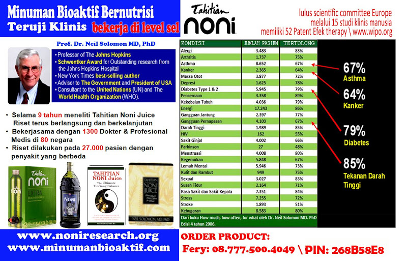 Hasit Riset Uji Klinis Prof.Dr.Neil Solomon,PhD