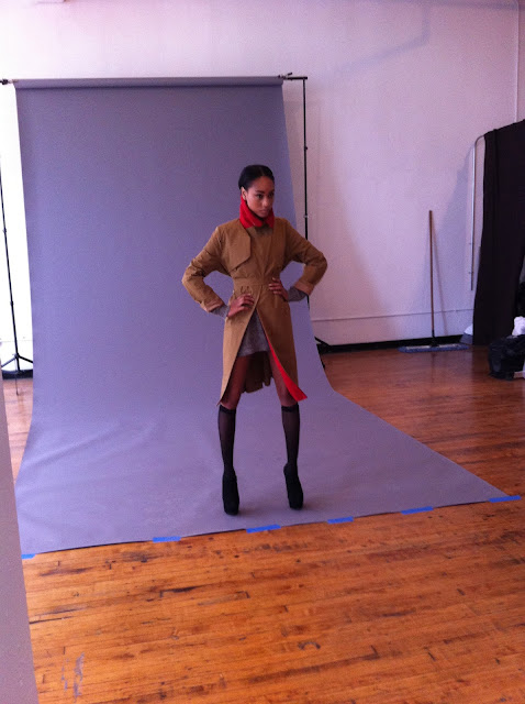 photographer Bryan Whitely with stylist Jessica Moazami shooting model Ramera