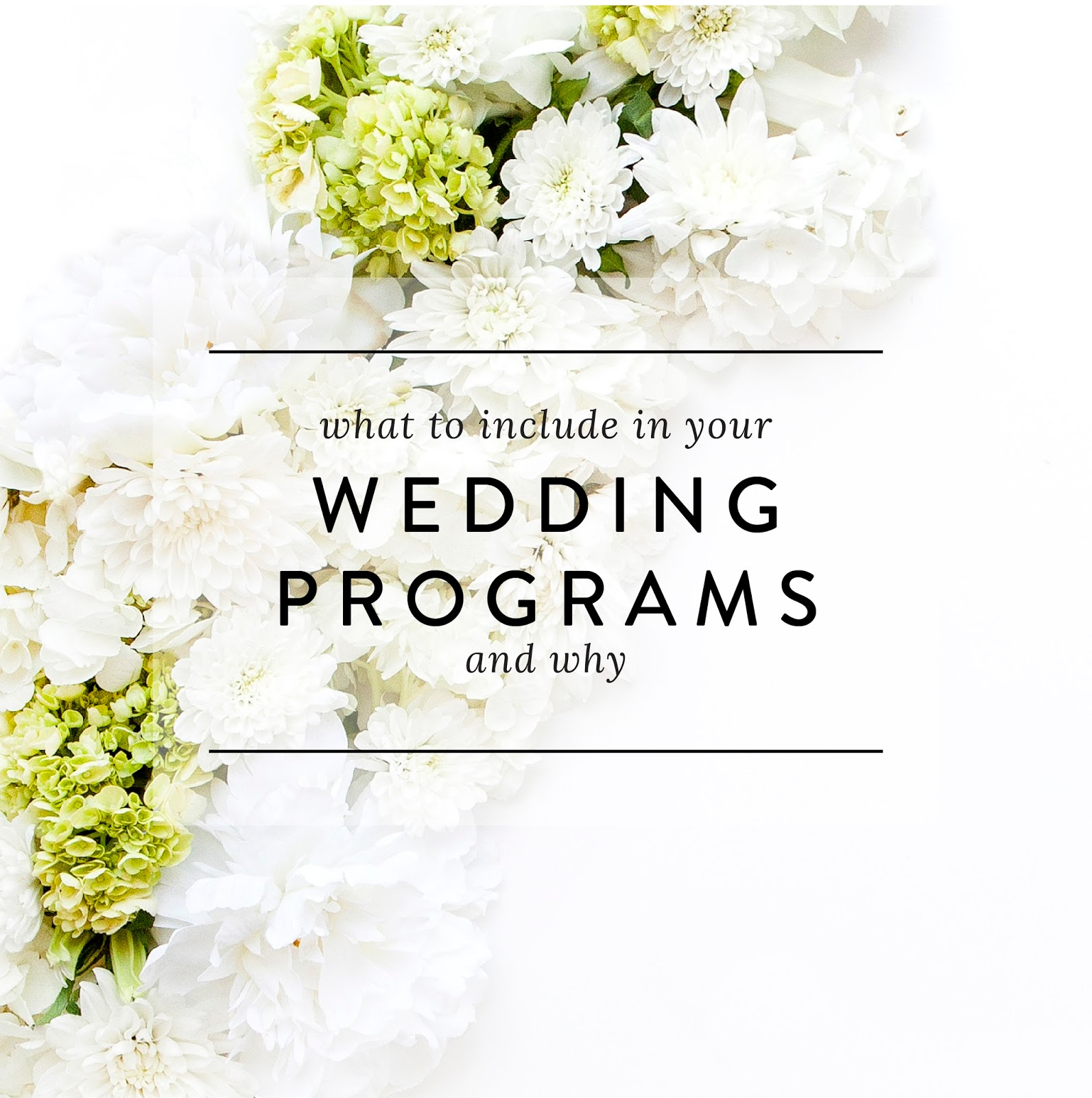 What To Include In Your Wedding Programs By Blush Paper Co