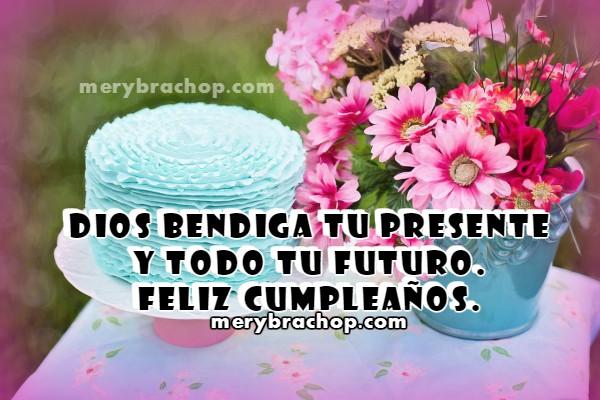 Tarjeta de cumpleaños para hija, hermana, mujer, saludos cristianos de cumple, bendición en cumpleaños, felicitación. imagen cristiana por Mery Bracho
