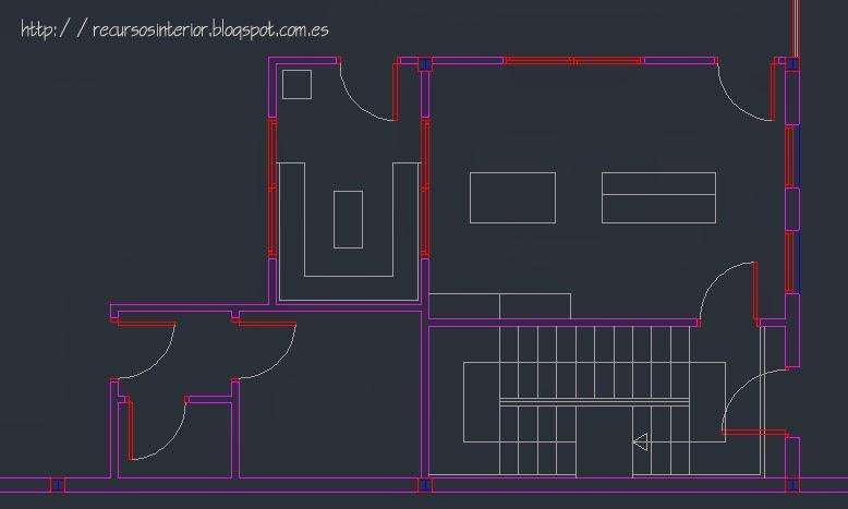 Seleccionar en autocad solo los elementos del dibujo con for Hacer planos en linea