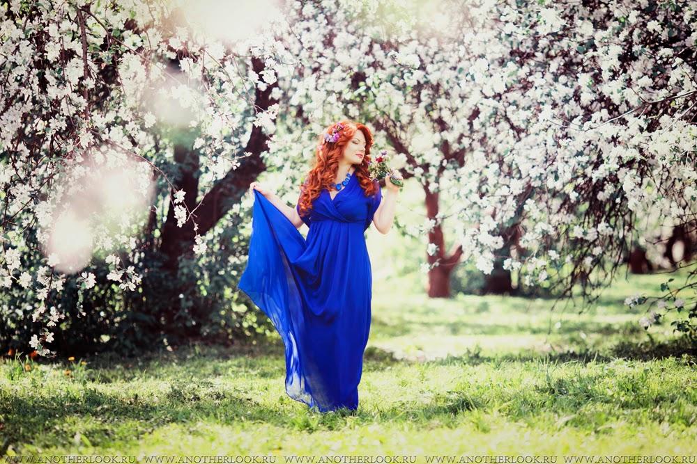 красивая фотосессия в саду
