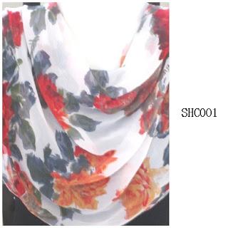 shawl halfmoon 2 layer corak