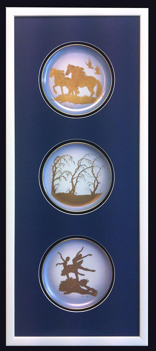 Elegant soluzione doppio blu notte con tre finestre tonde - Finestra ovale e finestra rotonda ...
