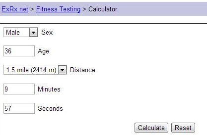 Measuring Up The 1.5 Miles Fitness Test