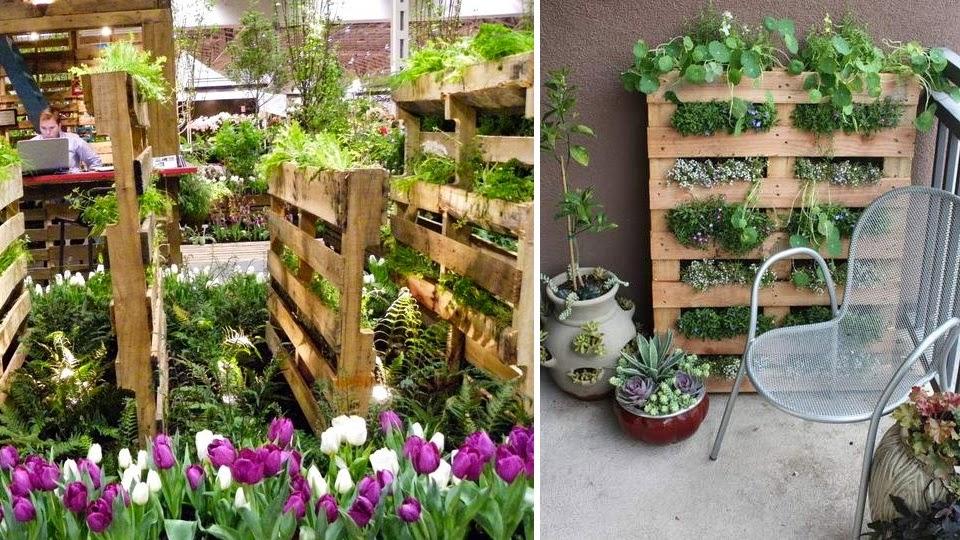 horta jardim na varanda:Uma vaca na varanda: Horta vertical em paletes? Muito visto. Vamos