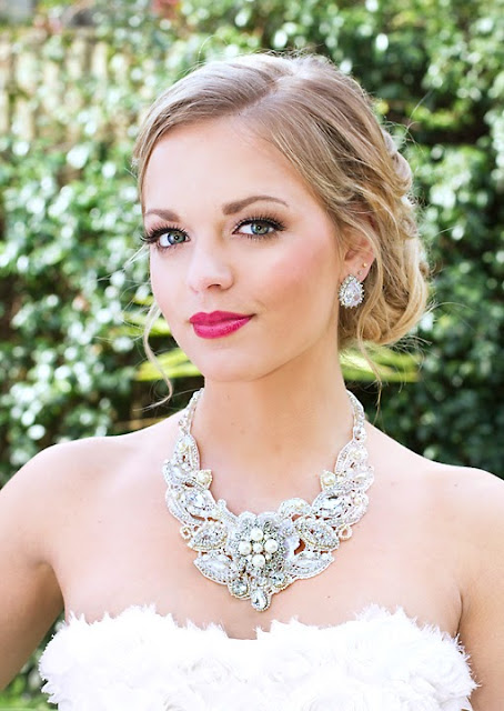 """Statement Wedding Necklace - """"Florence Bridal Lace Necklace"""""""