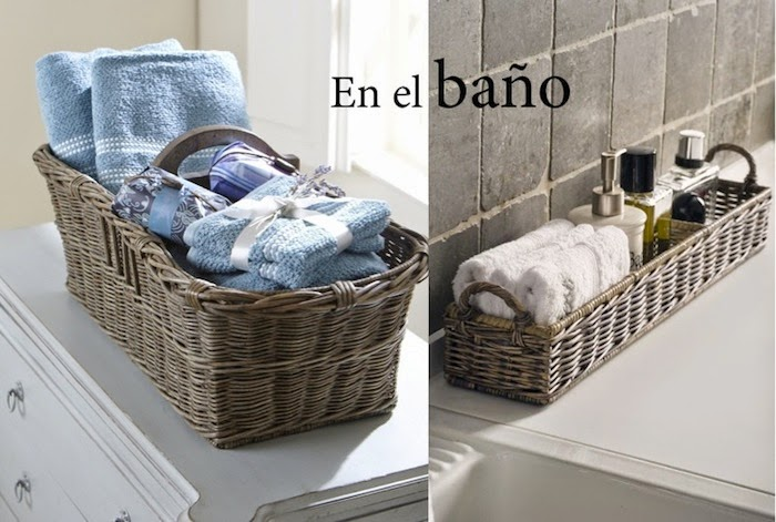 6 ideas para sacarle partido a una cesta decoraci n for Decorar muebles con tela