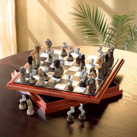 Having A Decorate Chess Set As A Room Decoration