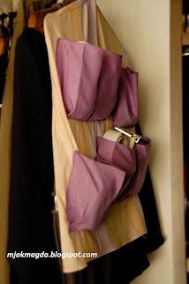 organizer do szafy na paski apaszaki rękawiczki czapki