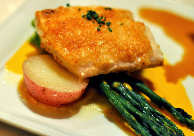Macadamia Nut-Crusted Mahi Mahi with Lobster Cream - Roy's Restaurant - Las Vegas, NV | Taste As You Go