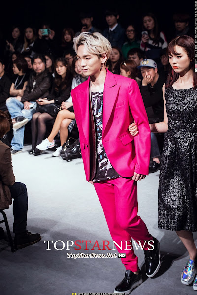 Shinee Key Seoul Fashion Week 2014