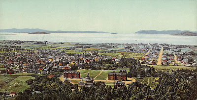 drawing of Berkeley and the Golden Gate from Wikimedia Commons