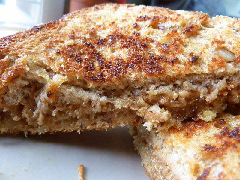 Grilled Peanut Butter and Honey Sandwich - Cookin' Cowgirl