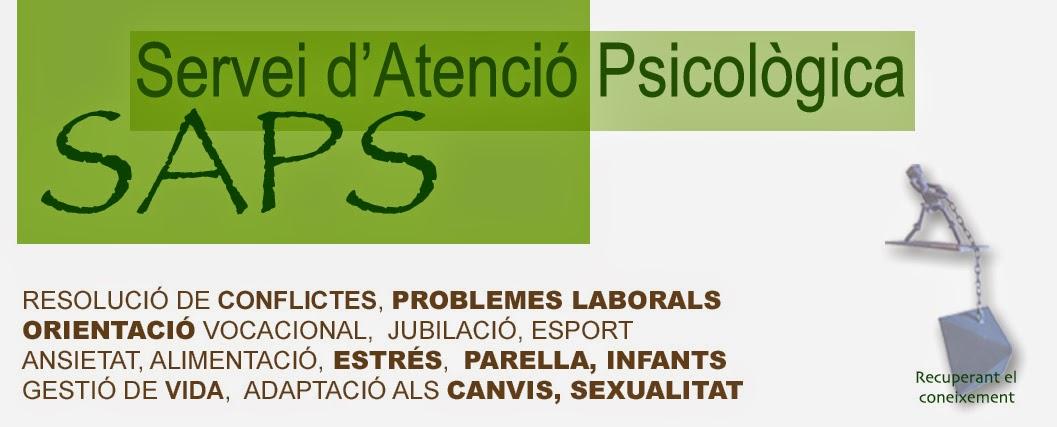 SAPS ??  SERVEI D'ATENCIÓ PSICOLÒGICA