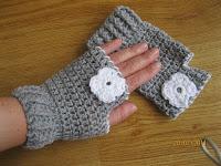 mitones sin dedos, crochet