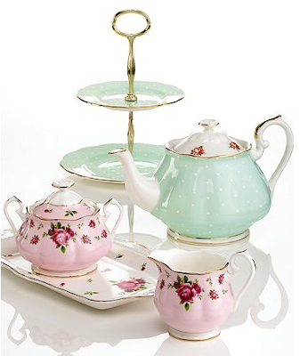 Royal Albert Polka Dot Roses Tea Set