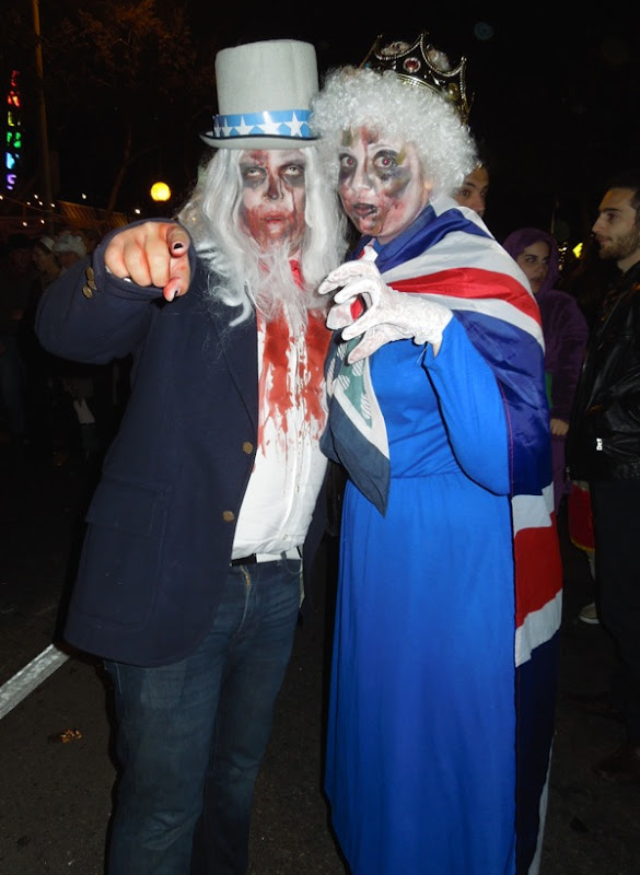 Zombie Uncle Sam Queen costumes West Hollywood Halloween