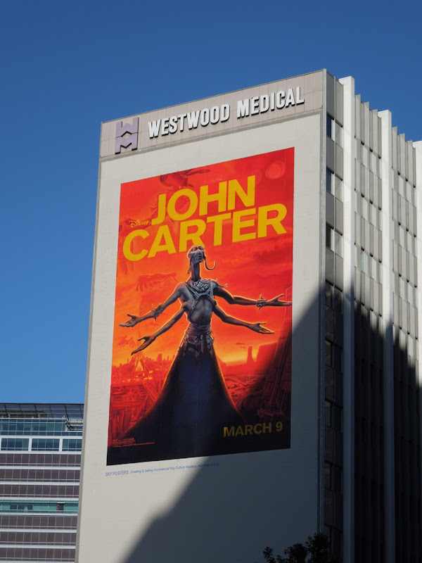 Giant John Carter movie billboard
