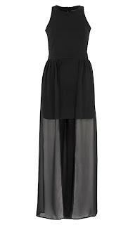 Sheer Overlay Bodycon Dress