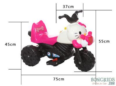 Xe máy điện trẻ em hình Kitty