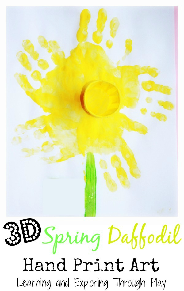 Learning And Exploring Through Play Daffodil Handprint Art