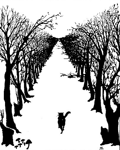 Rudyard Kipling: The Cat that Walked by Himself, illustration.