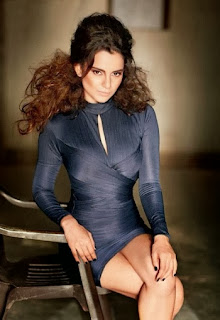 kangana-ranaut-with-stylish-hair-style-in-designer-full-sleeve-violet-mini-dress-showing-legs