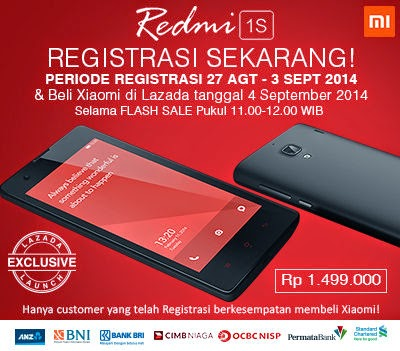 Registrasi Redmi 1S