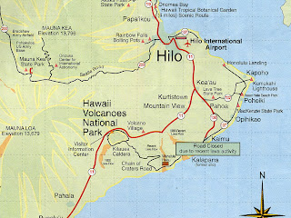 Map of Hilo Location Pictures