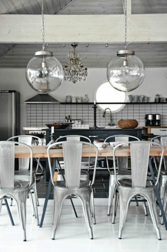 Industrial Kitchen and Dining Room