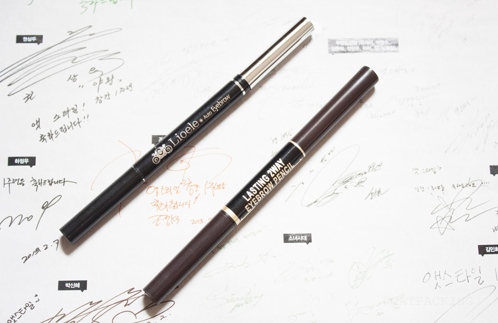 Eleventh Wander: COMPARISON: Lioele Auto Eyebrow Pencil vs K ...