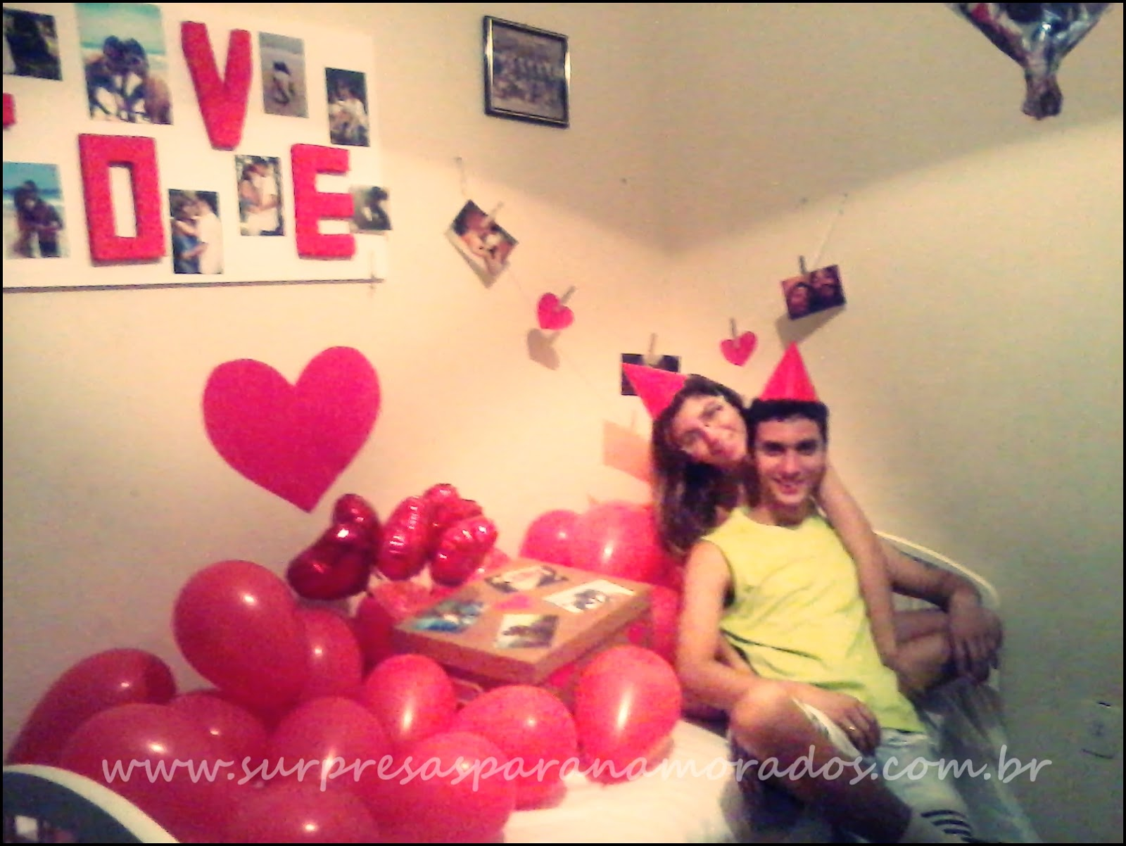 DIY  Quadro de fotos Love  Surpresas para Namorados